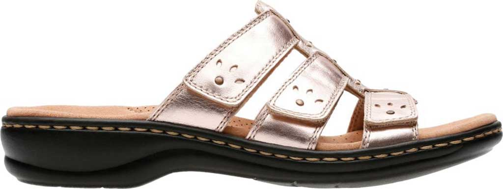 Women's Clarks Leisa Spring Strappy Sandal, Rose Gold Full Grain Leather, large, image 2