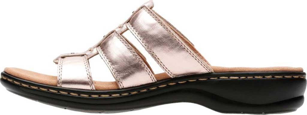 Women's Clarks Leisa Spring Strappy Sandal, Rose Gold Full Grain Leather, large, image 3