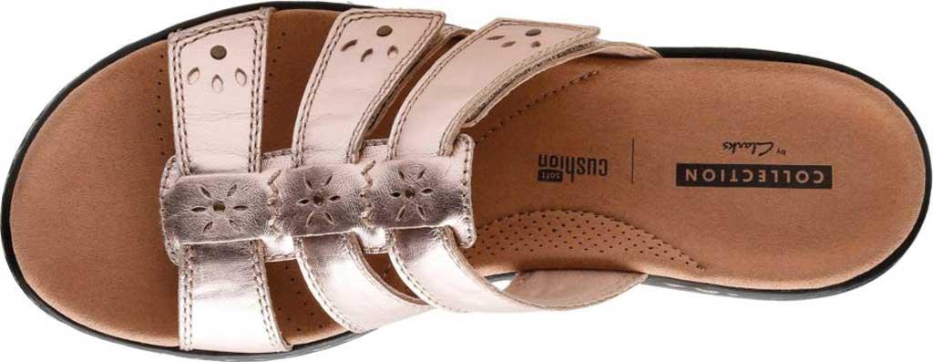 Women's Clarks Leisa Spring Strappy Sandal, Rose Gold Full Grain Leather, large, image 5