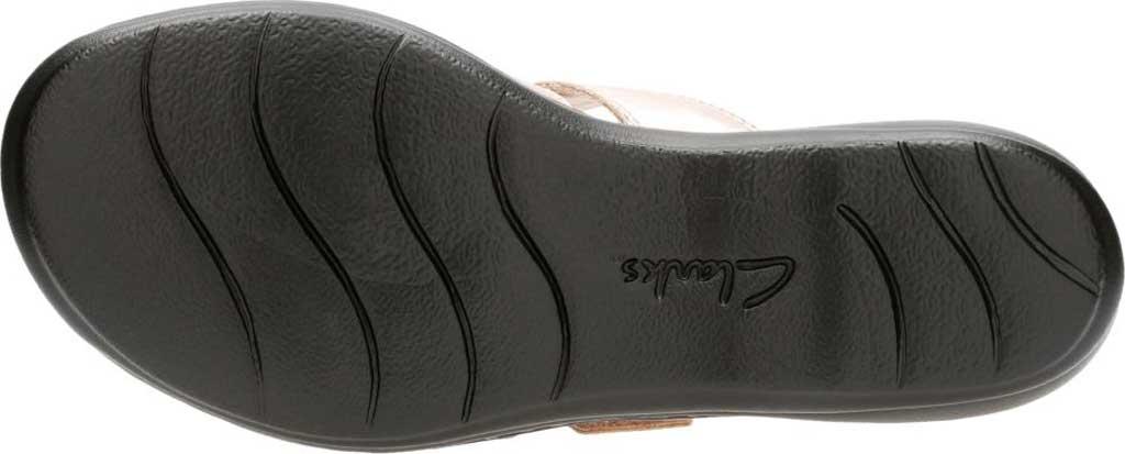 Women's Clarks Leisa Spring Strappy Sandal, Rose Gold Full Grain Leather, large, image 6