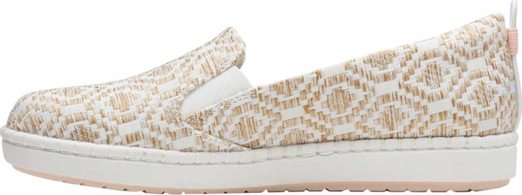 Women's Clarks Step Glow Slip-On, Natural/White Weave, large, image 2
