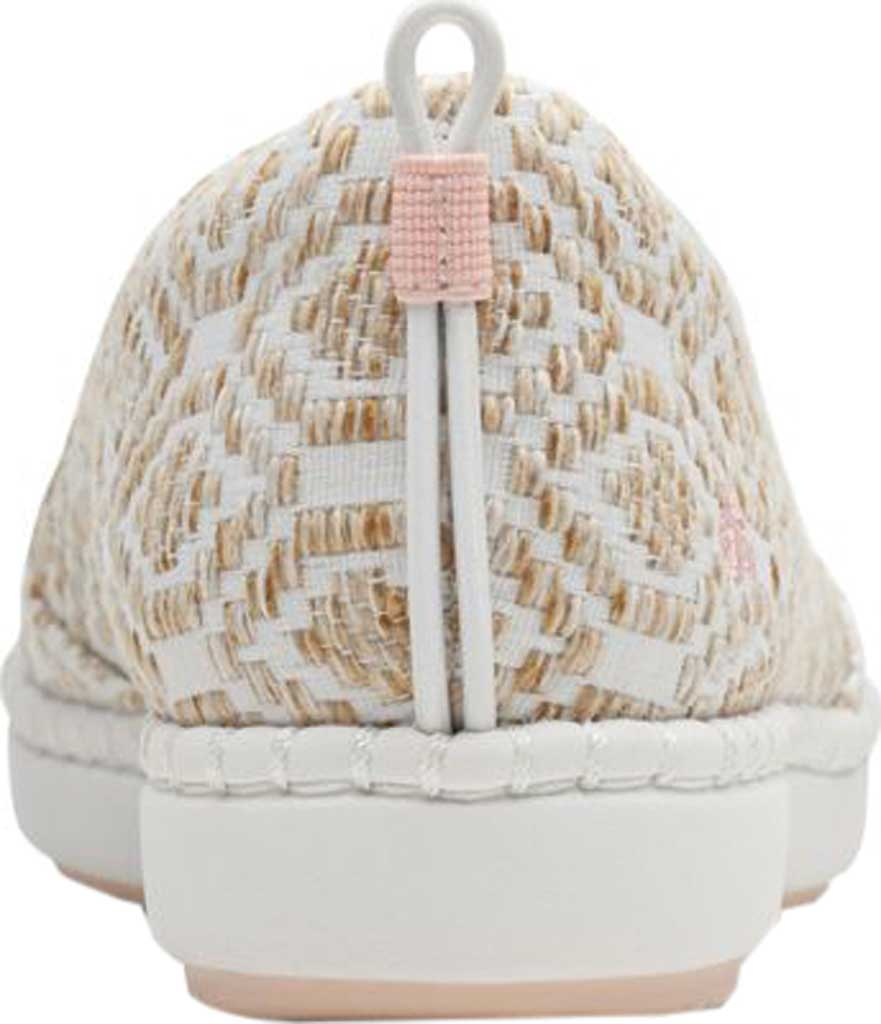 Women's Clarks Step Glow Slip-On, Natural/White Weave, large, image 3