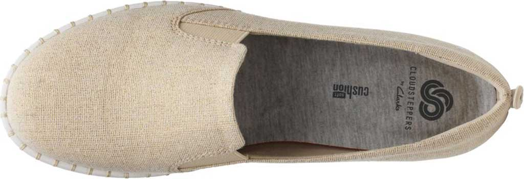 Women's Clarks Step Glow Slip-On, Soft Gold Canvas, large, image 4