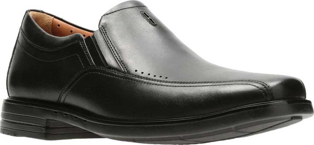 Men's Clarks Un Sheridan Go Loafer, Black Full Grain Leather, large, image 1