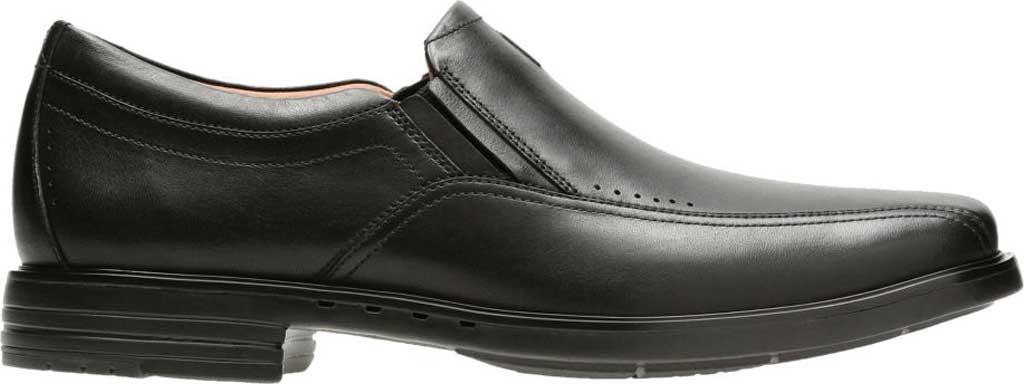 Men's Clarks Un Sheridan Go Loafer, Black Full Grain Leather, large, image 2