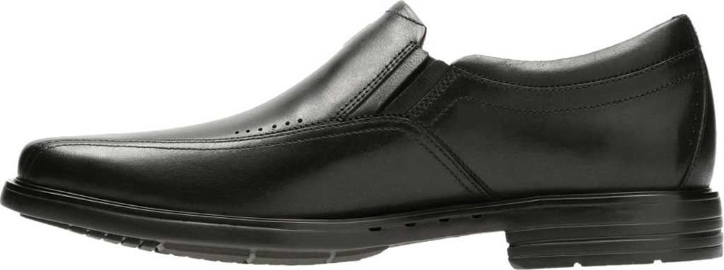 Men's Clarks Un Sheridan Go Loafer, Black Full Grain Leather, large, image 3