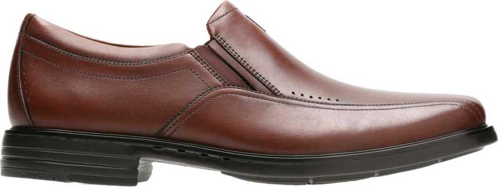 Men's Clarks Un Sheridan Go Loafer, Brown Full Grain Leather, large, image 2