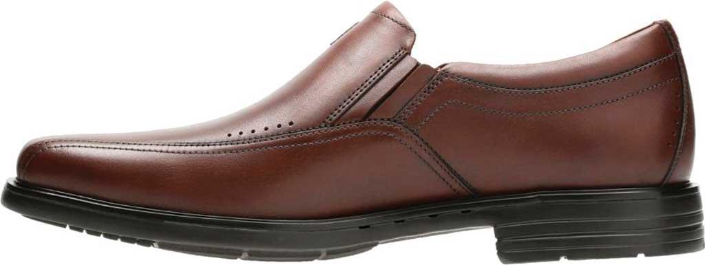 Men's Clarks Un Sheridan Go Loafer, Brown Full Grain Leather, large, image 3
