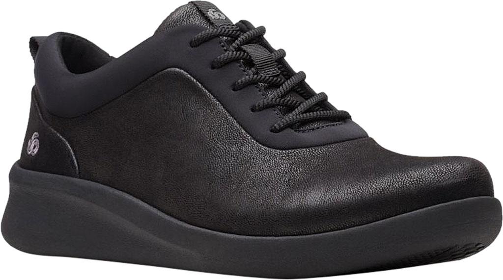 Women's Clarks Sillian 2.0 Pace Sneaker, Black Synthetic Nubuck, large, image 1