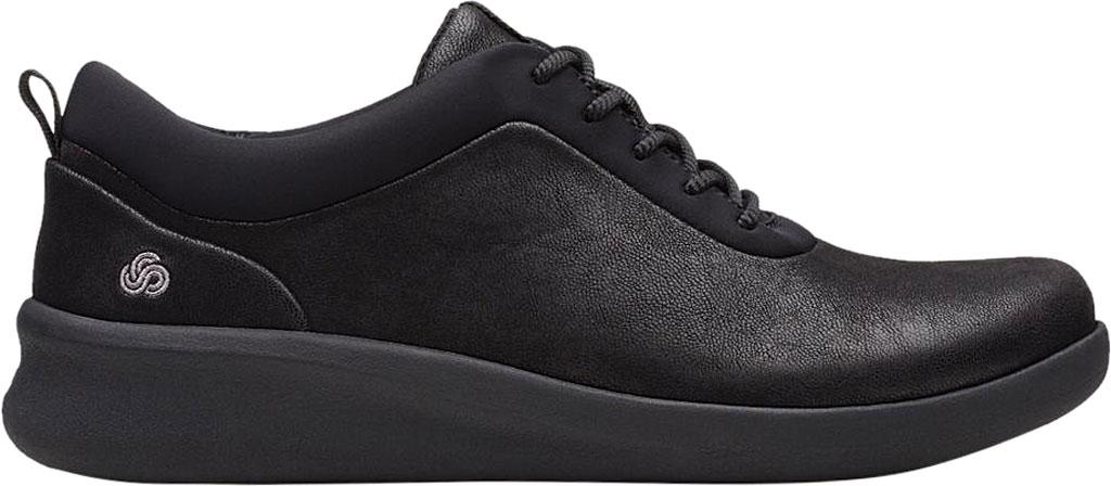 Women's Clarks Sillian 2.0 Pace Sneaker, Black Synthetic Nubuck, large, image 2