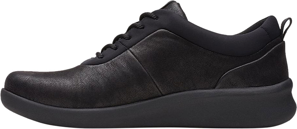 Women's Clarks Sillian 2.0 Pace Sneaker, Black Synthetic Nubuck, large, image 3