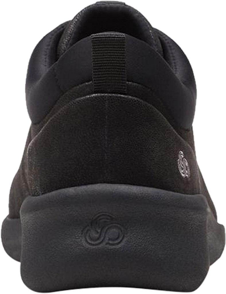 Women's Clarks Sillian 2.0 Pace Sneaker, Black Synthetic Nubuck, large, image 4