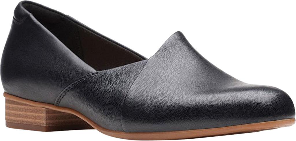 Women's Clarks Juliet Palm Loafer, Black Leather, large, image 1