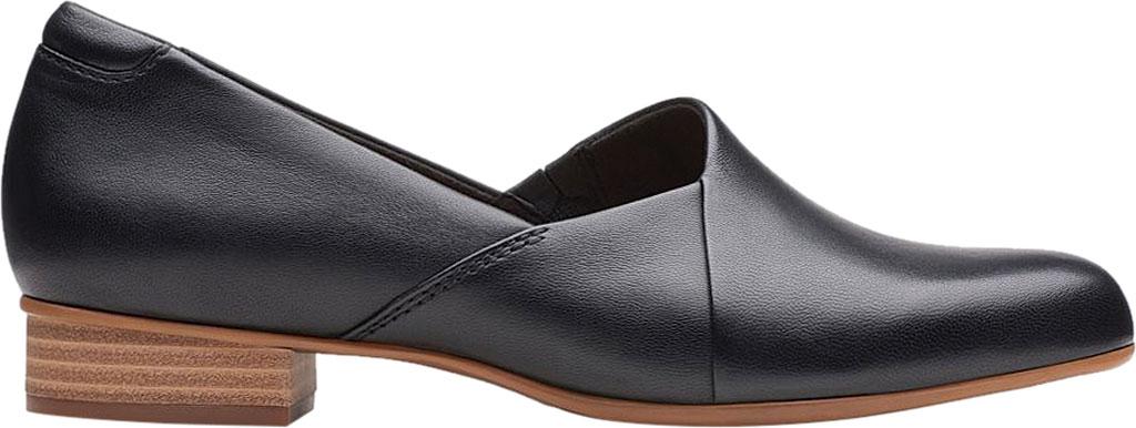 Women's Clarks Juliet Palm Loafer, Black Leather, large, image 2