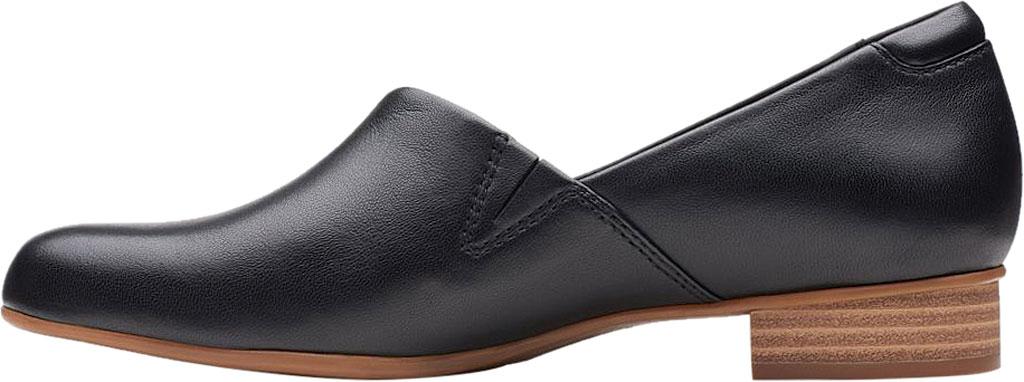Women's Clarks Juliet Palm Loafer, Black Leather, large, image 3