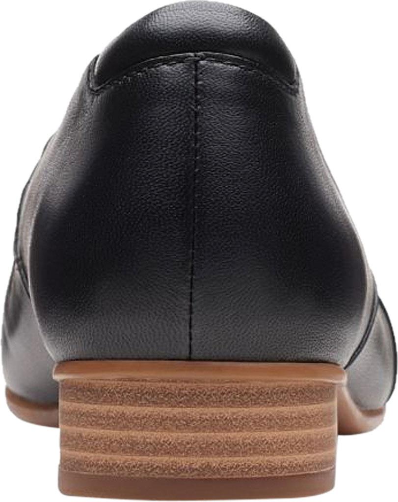 Women's Clarks Juliet Palm Loafer, Black Leather, large, image 4
