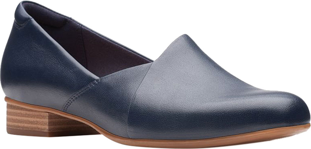 Women's Clarks Juliet Palm Loafer, Navy Leather, large, image 1