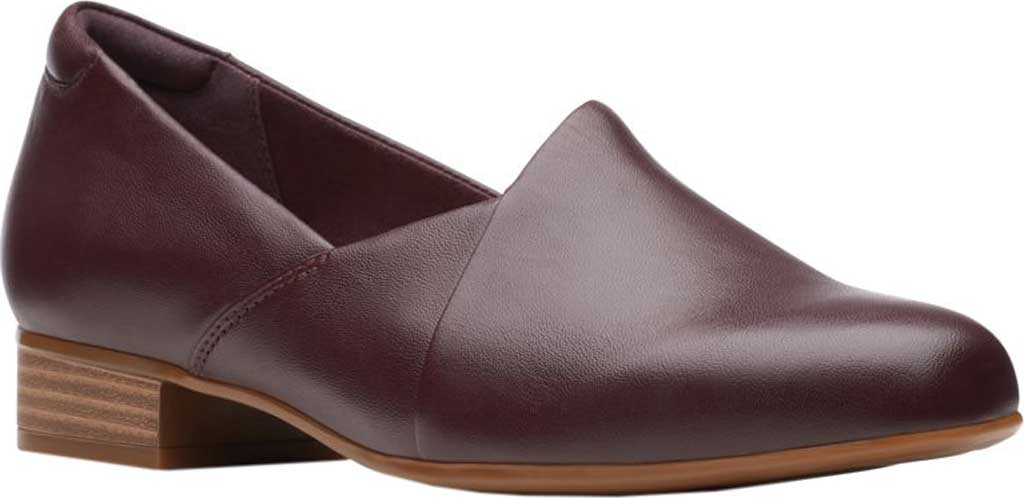 Women's Clarks Juliet Palm Loafer, Burgundy Leather, large, image 1