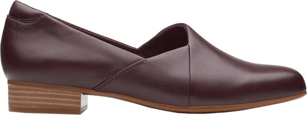 Women's Clarks Juliet Palm Loafer, Burgundy Leather, large, image 2