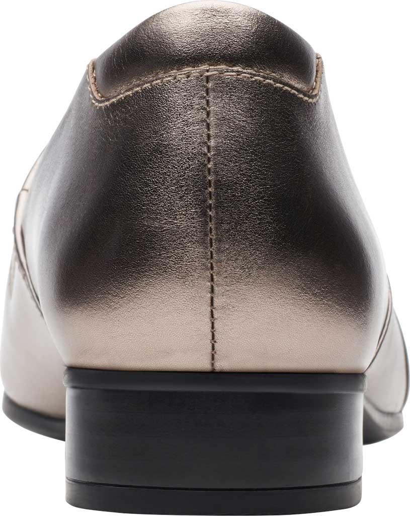 Women's Clarks Juliet Palm Loafer, Pewter Metallic Full Grain Leather, large, image 4
