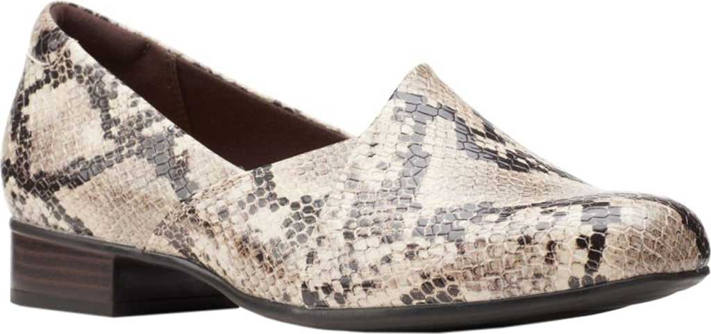 Women's Clarks Juliet Palm Loafer, Taupe Snake Synthetic, large, image 1