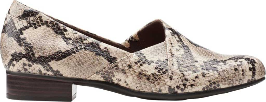 Women's Clarks Juliet Palm Loafer, Taupe Snake Synthetic, large, image 2