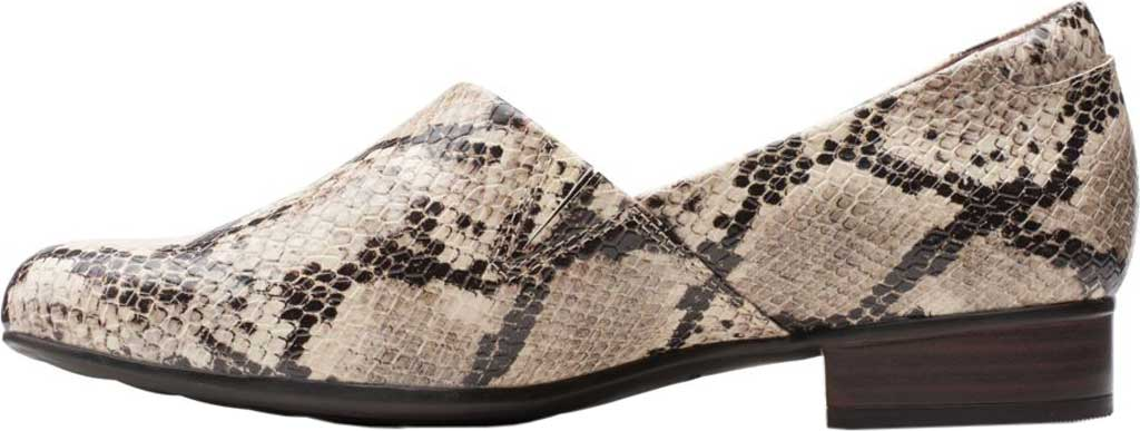 Women's Clarks Juliet Palm Loafer, Taupe Snake Synthetic, large, image 3