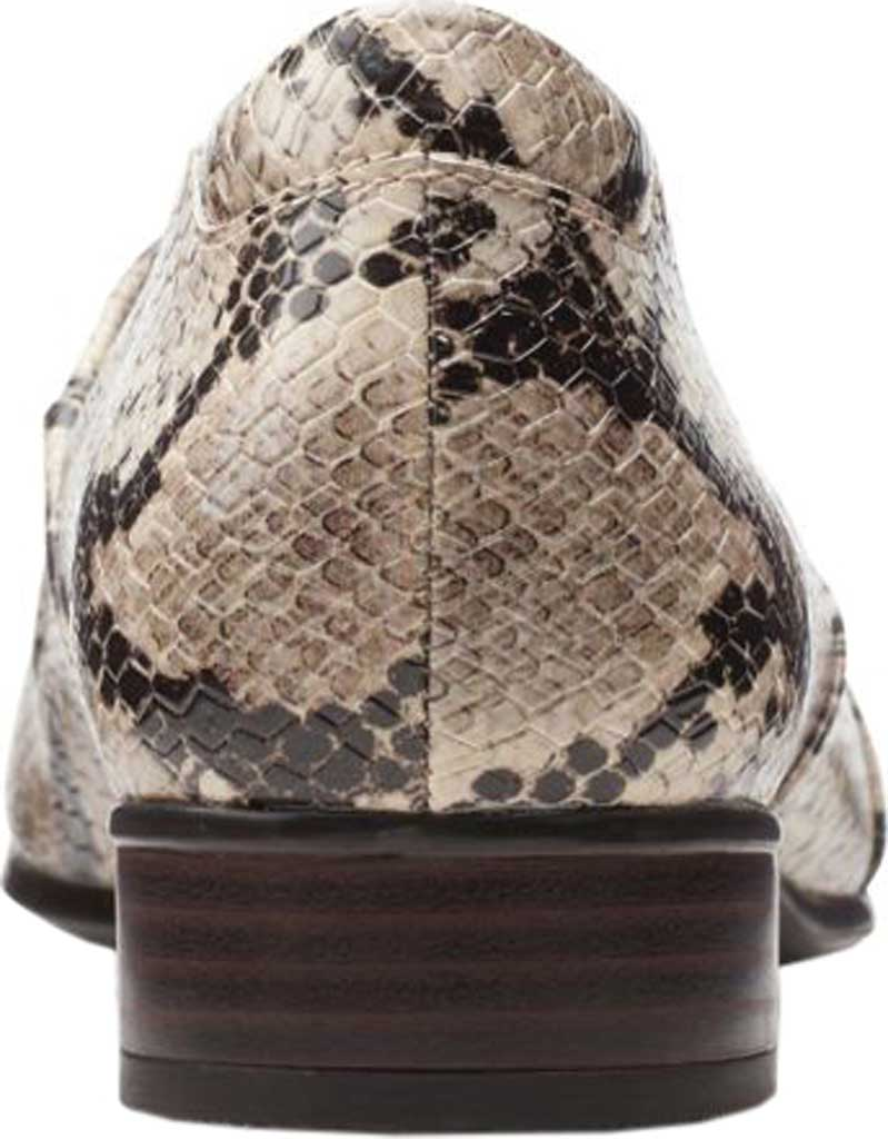 Women's Clarks Juliet Palm Loafer, Taupe Snake Synthetic, large, image 4