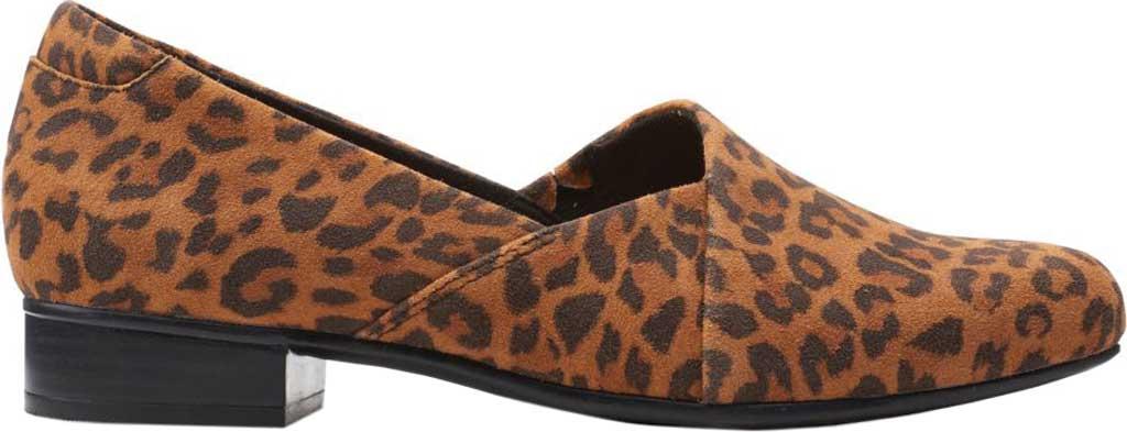 Women's Clarks Juliet Palm Loafer, Dark Tan Leopard Print Suede, large, image 2