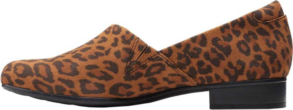 Women's Clarks Juliet Palm Loafer, Dark Tan Leopard Print Suede, large, image 3