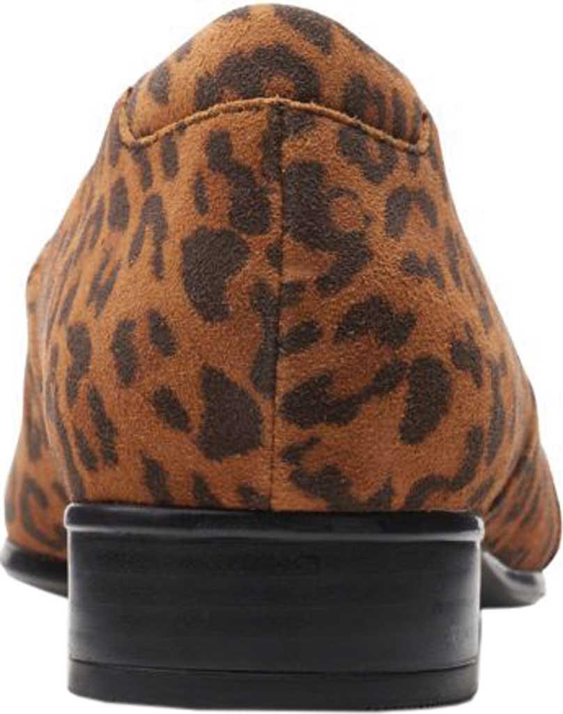 Women's Clarks Juliet Palm Loafer, Dark Tan Leopard Print Suede, large, image 4