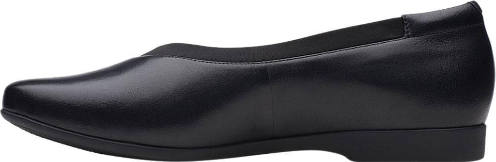 Women's Clarks Un Darcey Ease Ballet Flat, Black Full Grain Leather, large, image 3