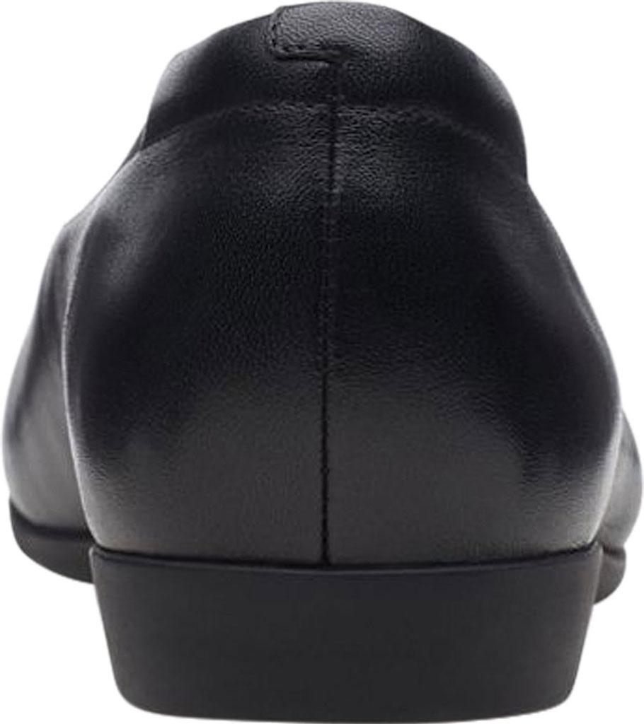 Women's Clarks Un Darcey Ease Ballet Flat, Black Full Grain Leather, large, image 4