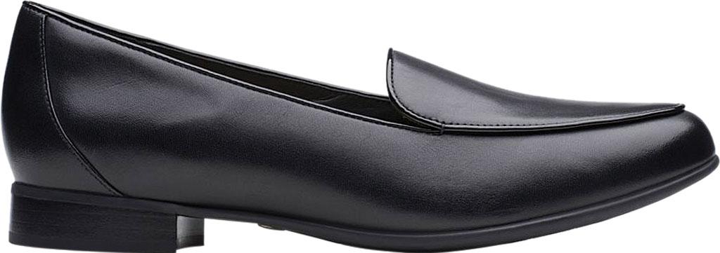 Women's Clarks Un Blush Ease Loafer, Black Leather, large, image 2