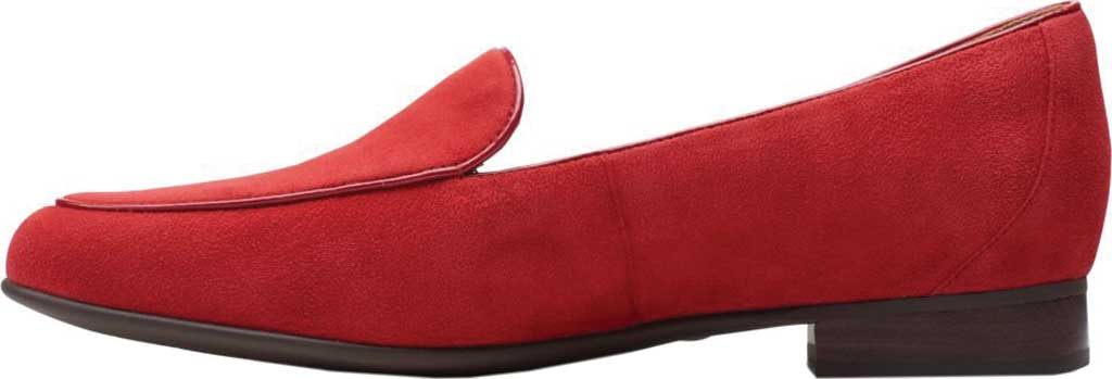 Women's Clarks Un Blush Ease Loafer, Red Suede, large, image 3