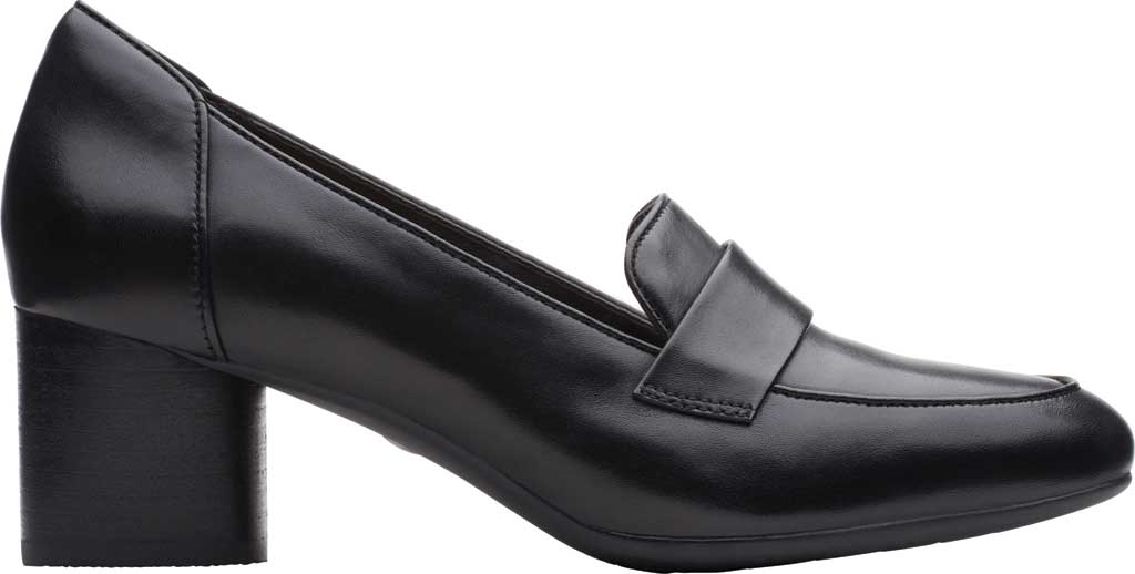Women's Clarks Un Cosmo Way Loafer, Black Full Grain Leather, large, image 2