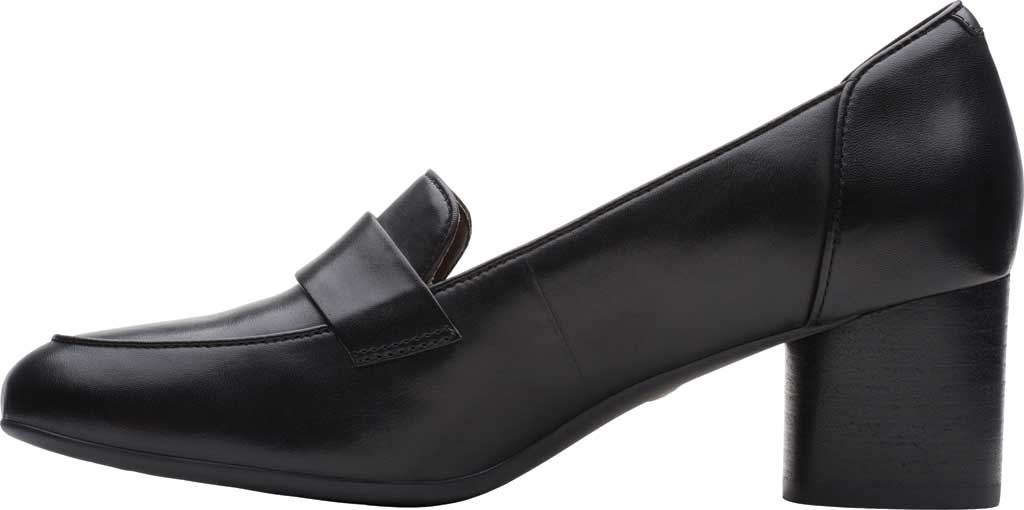 Women's Clarks Un Cosmo Way Loafer, Black Full Grain Leather, large, image 3