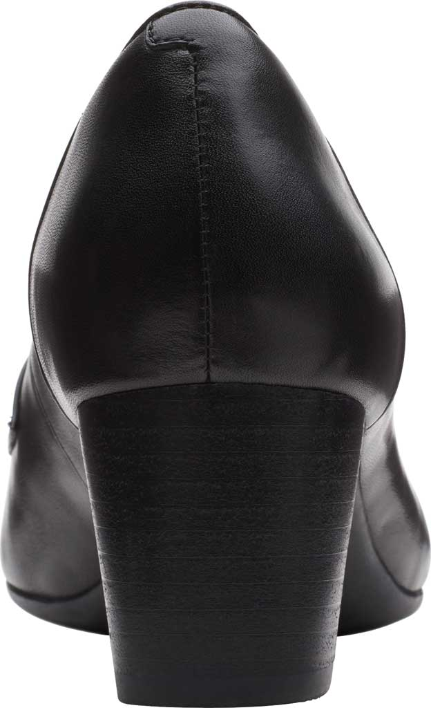 Women's Clarks Un Cosmo Way Loafer, Black Full Grain Leather, large, image 4