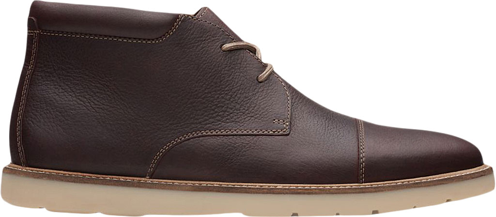 Men's Clarks Grandin Top Chukka Boot, Dark Brown Full Grain Leather, large, image 1