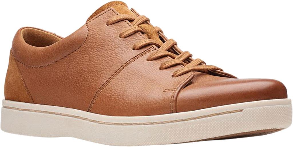 Men's Clarks Kitna Vibe Sneaker, Tan Full Grain Leather, large, image 1