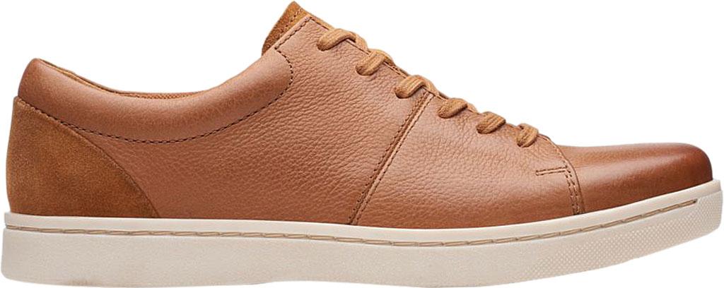 Men's Clarks Kitna Vibe Sneaker, Tan Full Grain Leather, large, image 2