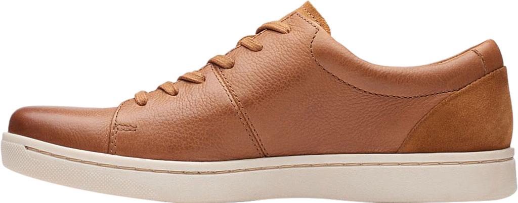 Men's Clarks Kitna Vibe Sneaker, Tan Full Grain Leather, large, image 3
