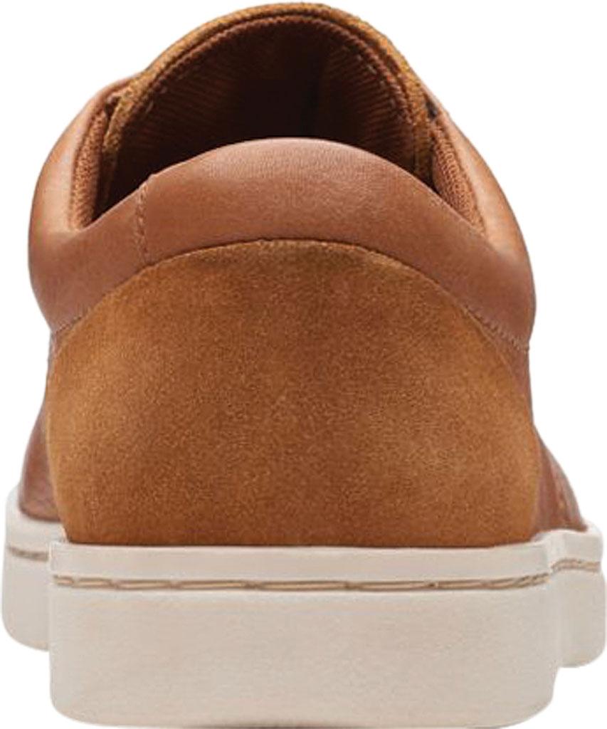 Men's Clarks Kitna Vibe Sneaker, Tan Full Grain Leather, large, image 4