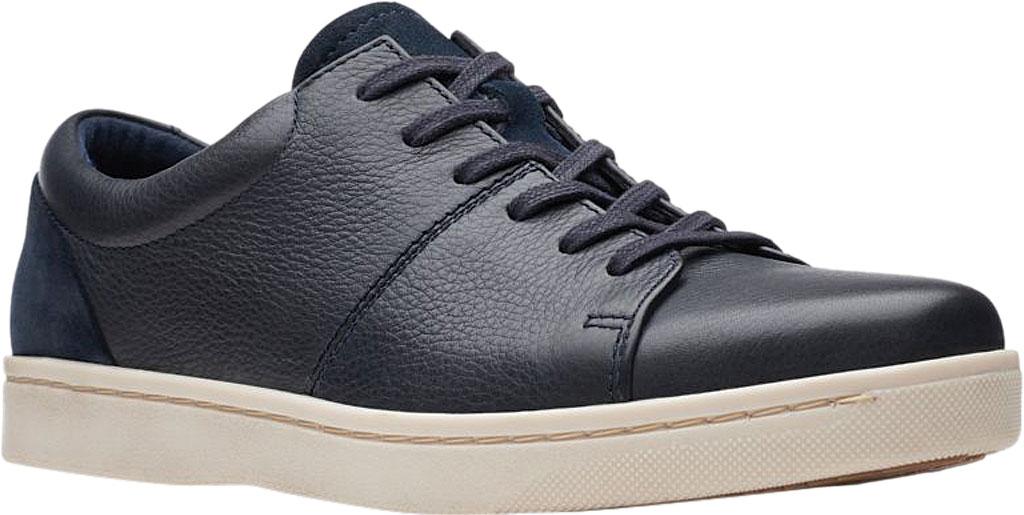Men's Clarks Kitna Vibe Sneaker, Navy Full Grain Leather, large, image 1