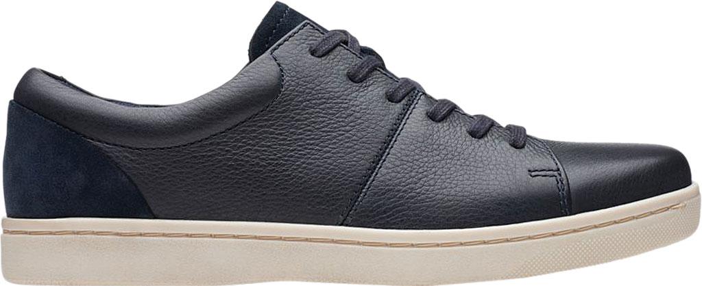 Men's Clarks Kitna Vibe Sneaker, Navy Full Grain Leather, large, image 2