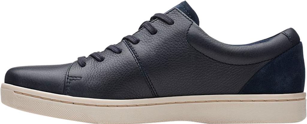 Men's Clarks Kitna Vibe Sneaker, Navy Full Grain Leather, large, image 3