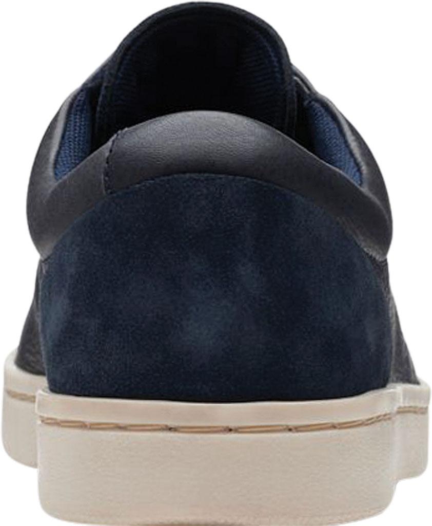 Men's Clarks Kitna Vibe Sneaker, Navy Full Grain Leather, large, image 4