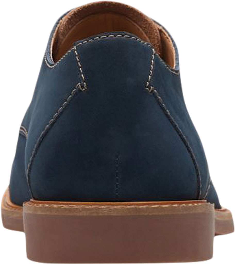 Men's Clarks Atticus Cap Toe Oxford, Navy Nubuck Leather, large, image 4