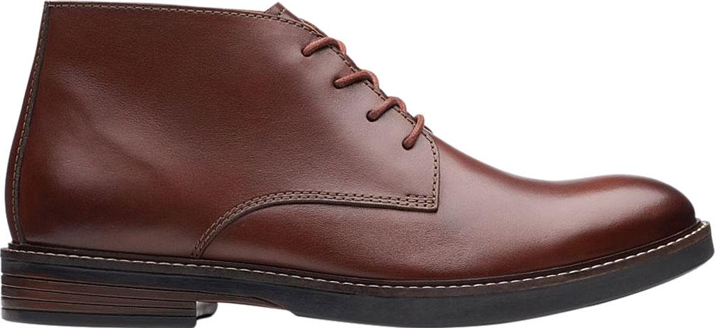 Men's Clarks Paulson Mid Chukka Boot, Mahogany Full Grain Leather, large, image 2