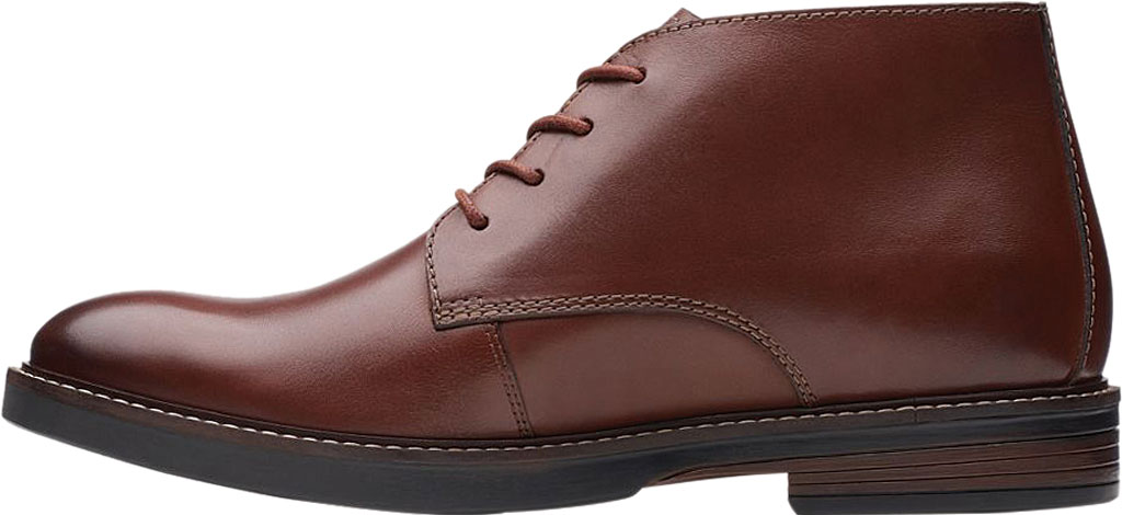 Men's Clarks Paulson Mid Chukka Boot, Mahogany Full Grain Leather, large, image 3